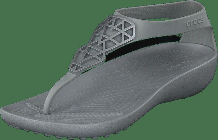 Crocs - Crocs Serena Embellish Flip W Silver/silver