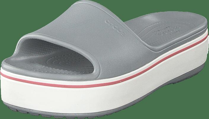 Crocband Platform Slide Light Grey/rose
