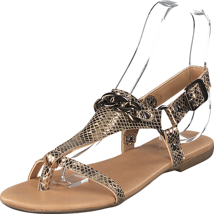 Becca Verona Leather Sandal 930 - Gold