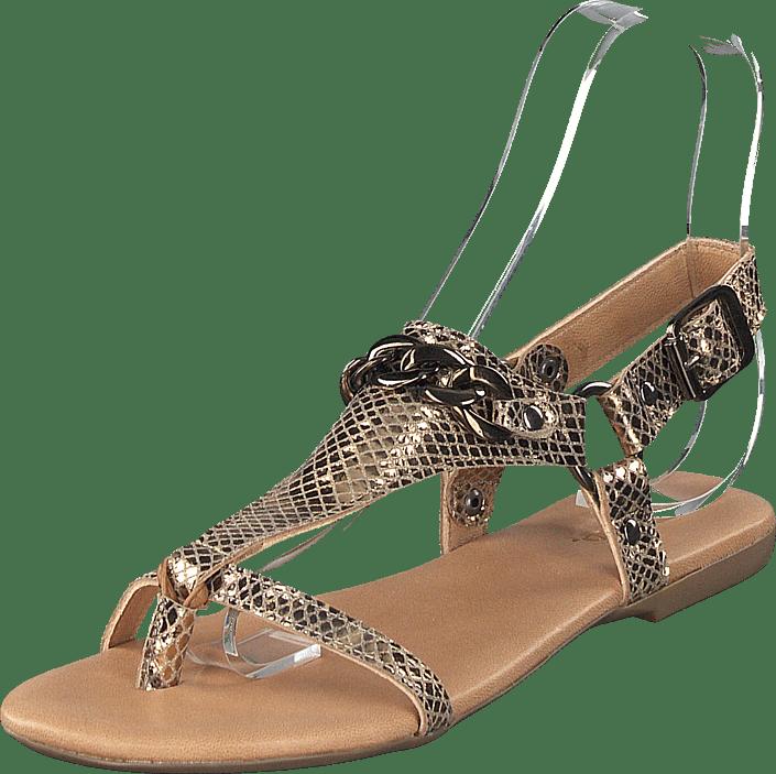 Becca Verona Leather Sandal 930 Gold