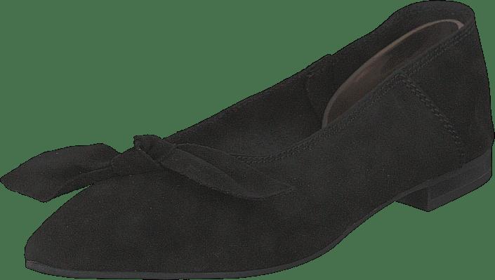 Bianco - Berna Suede Bow Shoe 101 - Black 1