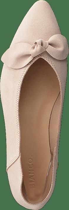 Bianco - Berna Suede Bow Shoe 281 - Sand 1