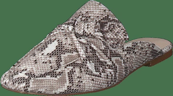 Bianco - Birke Assymetric Bow Mule 610 - Snake