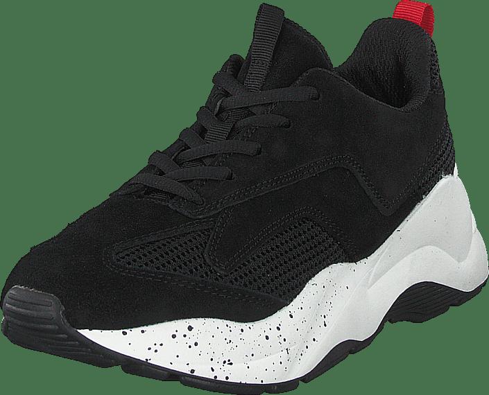 Bianco - Becky Suede Sneaker 101 - Black 1