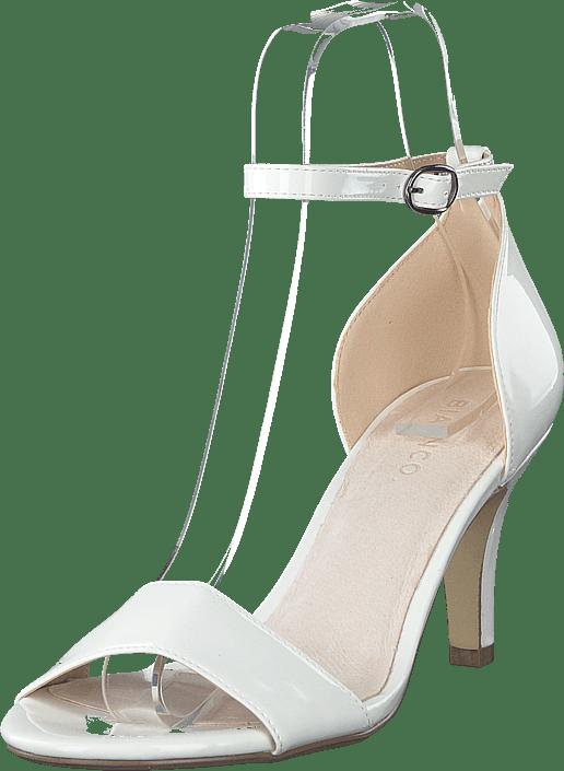 bianco hvide stiletter, Triangle Sandal Sort, Bianco Dame