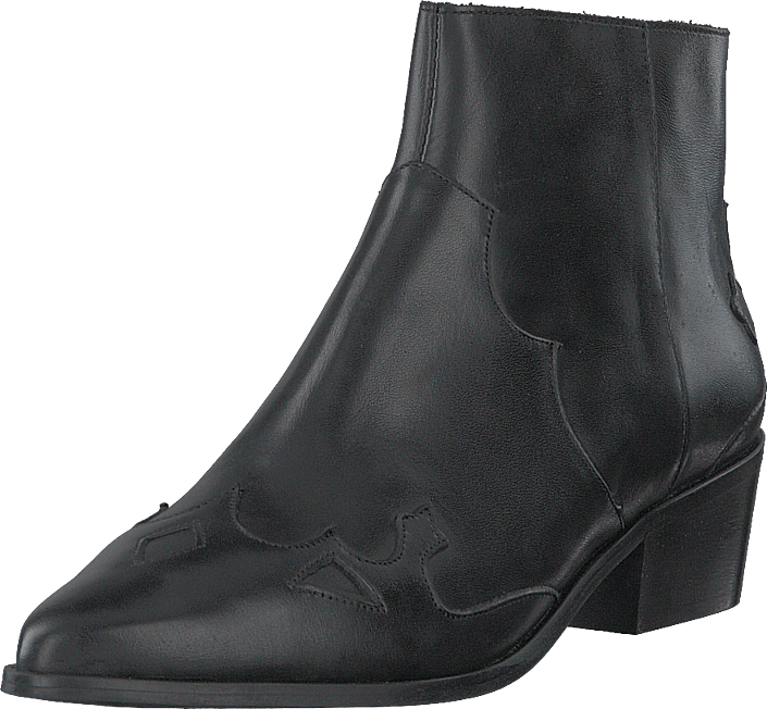 Bianco - Bismil Western Leather Boot 100 - Black