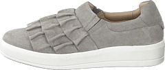 Betina Suede Frill Shoe 151 - Light Grey 1