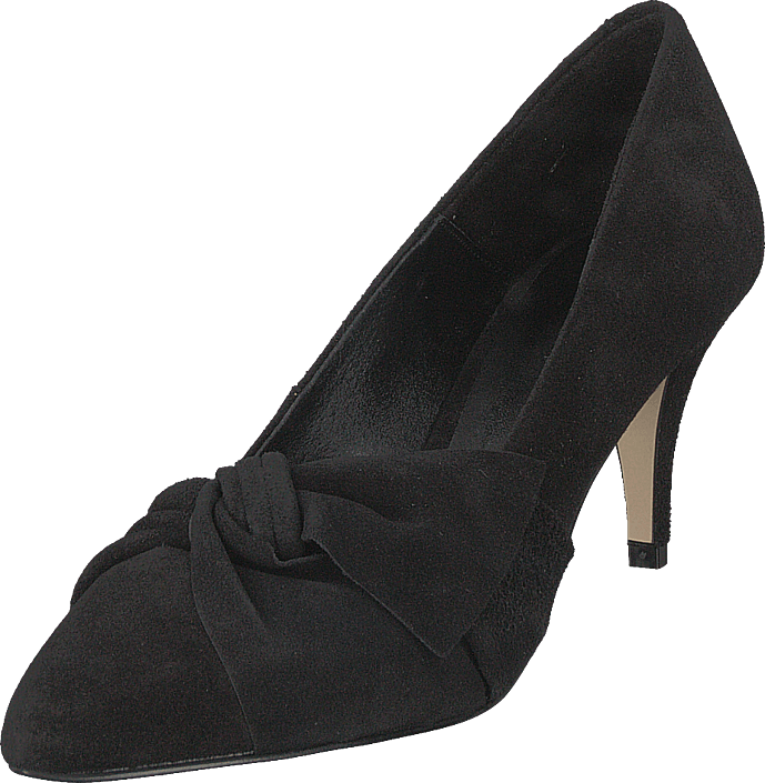 Bianco - Zita Suede Bow Pump 101 - Black 1