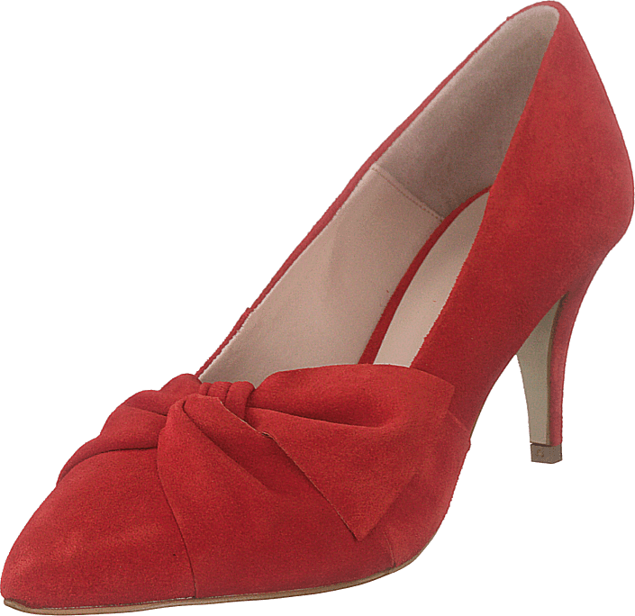 Bianco - Zita Suede Bow Pump 441 - Red 1