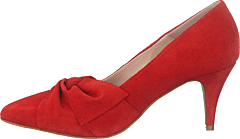 Zita Suede Bow Pump 441 - Red 1