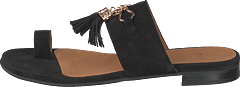 Sandals Black Suede/gold