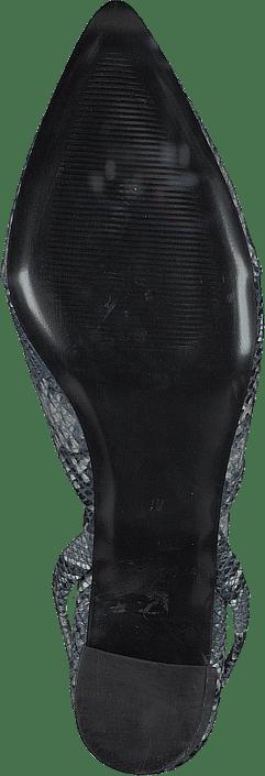 Monaco Slingbacks Blue Snake