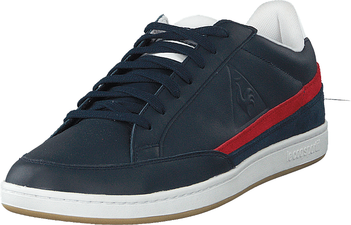 Le Coq Sportif - Courtclay Leather Suede Dress Blue / Pure Red