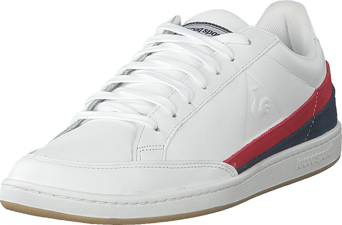 Le Coq Sportif - Courtclay Leather Suede Optical White / Dress Blue