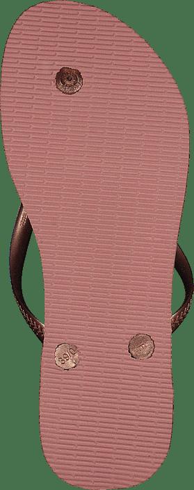 Kjøp Havaianas Slim Logo Metallic Rose Nuderose Gold 3655