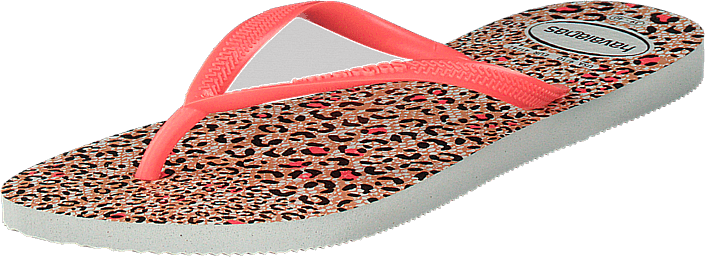 Havaianas - Slim Animals White / Coral New 6577