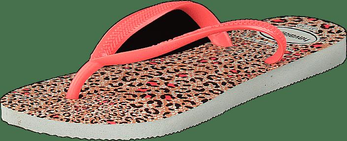 Havaianas - Slim Animals Kids White/coral New 6577