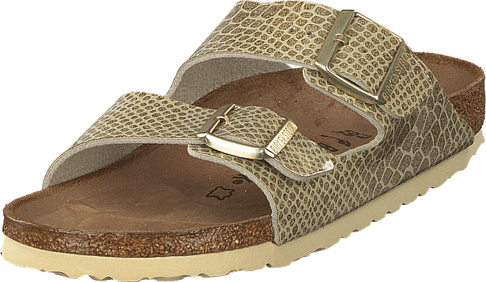 Birkenstock - Arizona Slim Birko-flor Magic Snake Gold