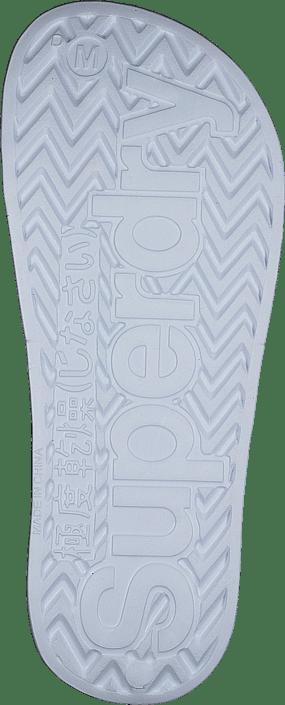 Superdry Perf Jelly Pool Slide Optic White