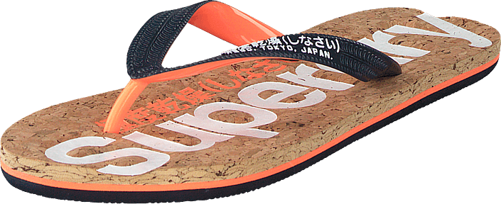Superdry - Glitter Cork Flip Flop Dk Navy/optic White