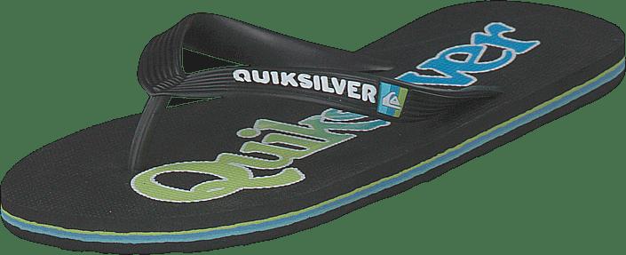 Quiksilver - Molokai Wordmark Fine Black/green/blue