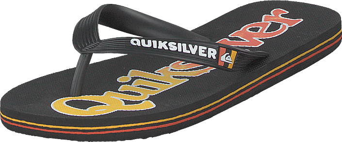 Quiksilver - Molokai Wordmark Fine Black/black/yellow