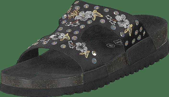 Marie Tøfler silver Sko 20 Sandaler Online 60132 Sköna Og Sorte Theia Black Køb qHgxng