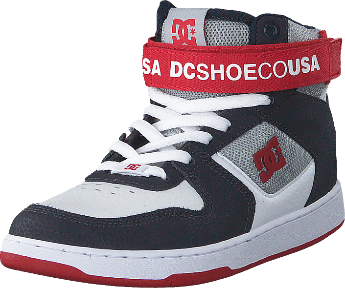 DC Shoes - Pensford White/navy/red