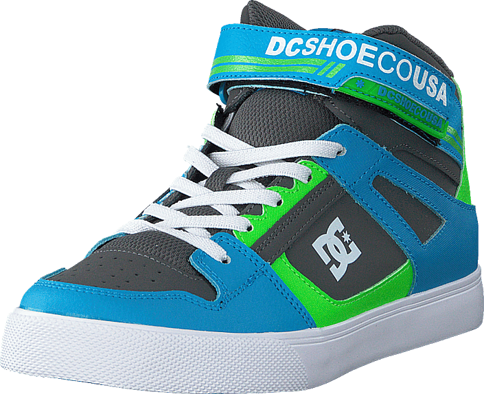 DC Shoes - Pure High.top Ev Grey/green/blue
