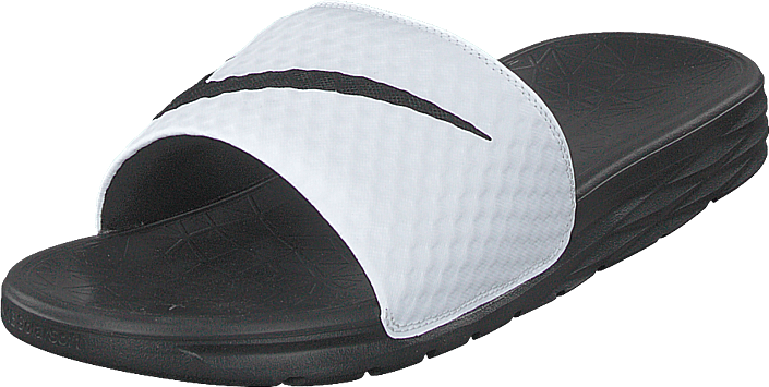 ab44181ef Buy Nike Benassi Solarsoft Slide 2 White black grey Shoes Online ...