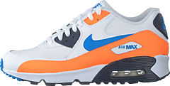 Boys' Air Max 90 Leather (gs) White/photo Blue-total Orange
