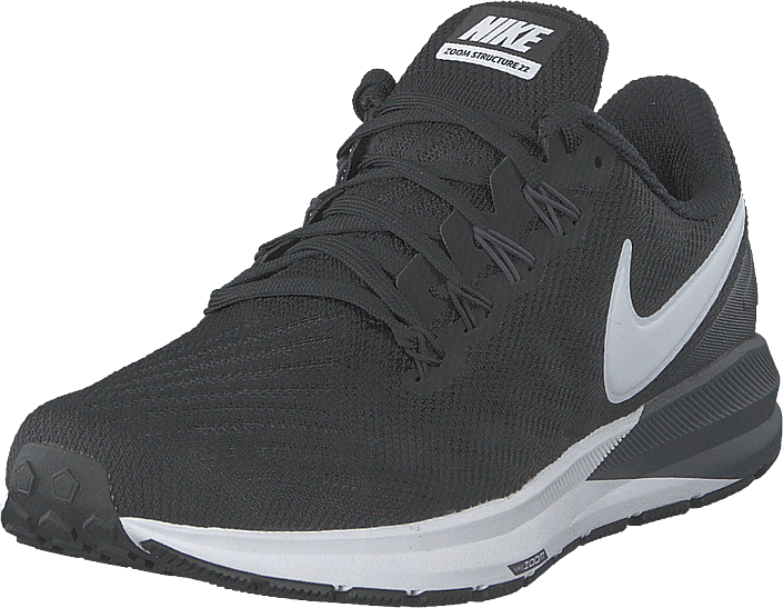 Nike - Men's Air Zoom Structure 22 Black/white-gridiron