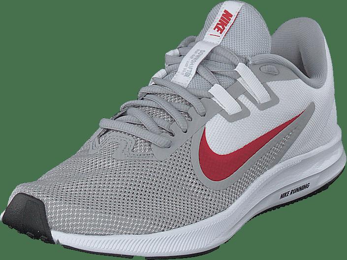 Nike - Downshifter 9 Wolf Grey/university Red-white