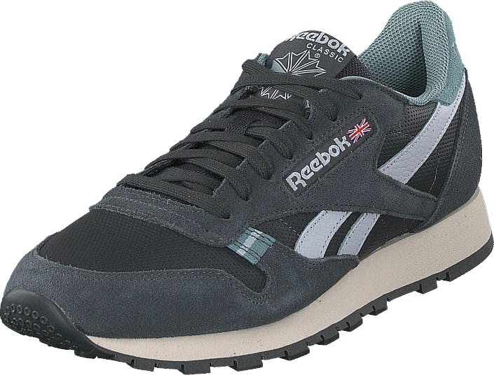 Reebok Classic Cl Leather Mu True Grey/teal Fog/st, Skor, Sneakers & Sportskor, Sneakers, Grå, Herr, 40