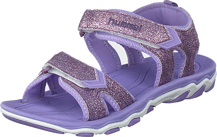 b9aeb1c9 Buy Hummel Sandal Glitter Jr Violet Tulip purple Shoes Online ...