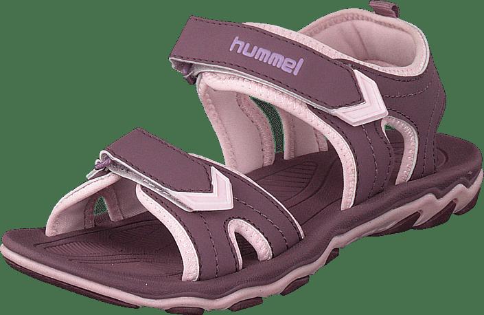 0611a34a8883 Køb Hummel Sandal Sport Jr Grape Shake lilla Sko Online