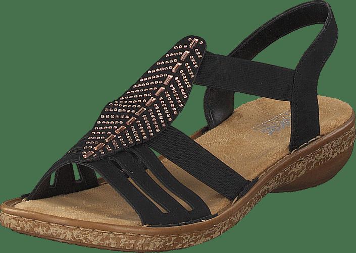 Rieker 628g6 00 svart bruna Skor Online