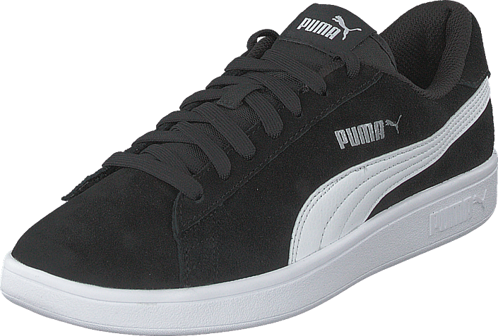 Sko 22 White Og Sportsko Puma Sorte silver Sneakers V2 60143 Black Online Køb puma Smash xXF8n8P6