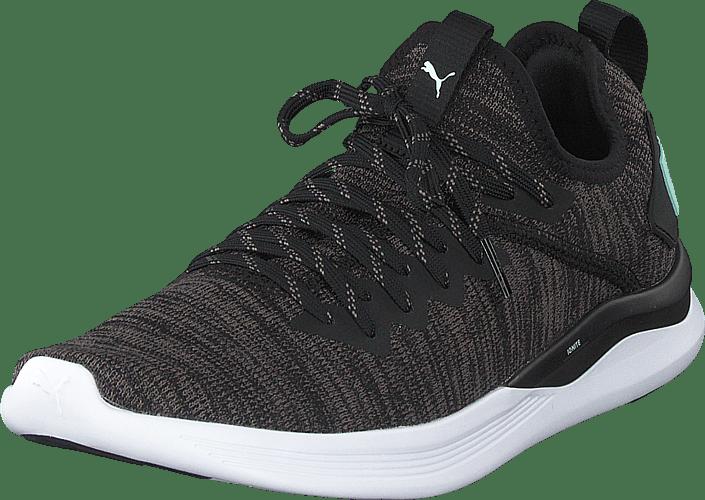 Puma - Ignite Flash Evoknit Sr Wn's Puma Black-charcoal Gray-aqua