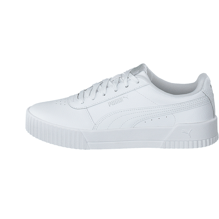 Puma Carina L Damskie Black White Silver Obuwie Sneakers