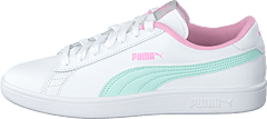 Puma Smash V2 L Jr Puma White-fair Aqua-pale Pink