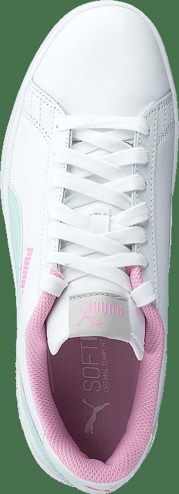 Puma Smash V2 L Jr Puma White-fair Aqua-pale Pink