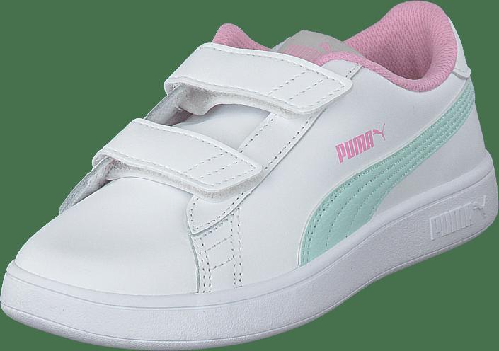 Puma - Puma Smash V2 L Ps Puma White-fair Aqua-pale Pink