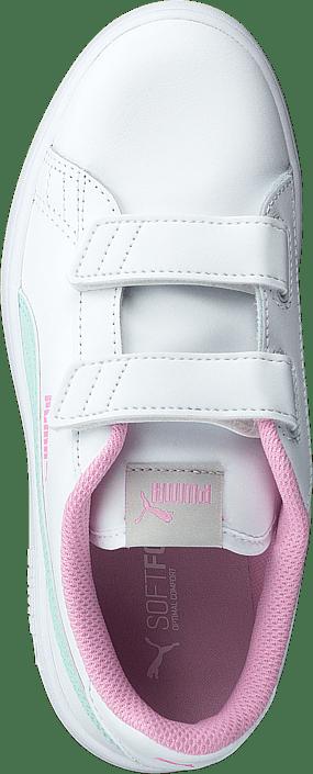 Puma Smash V2 L Ps Puma White-fair Aqua-pale Pink