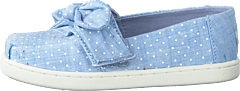 Bliss Speckled Chambray Dots Light Blue