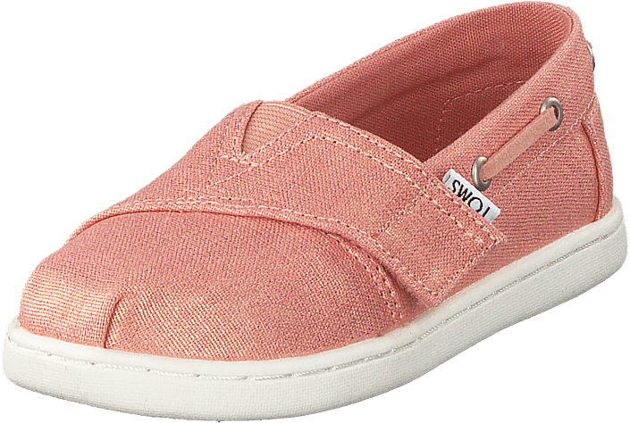 Toms - Coral Pink Shimmer Canvas Coral