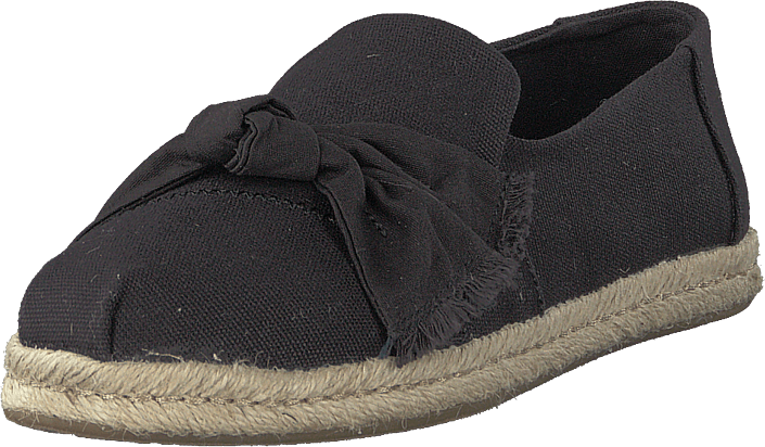 Toms - Black Canvas Knot Black