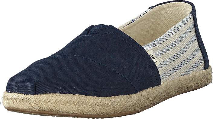 Toms - Navy Canvas Ivy League On Rope Navy