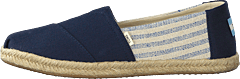 Navy Canvas Ivy League On Rope Navy