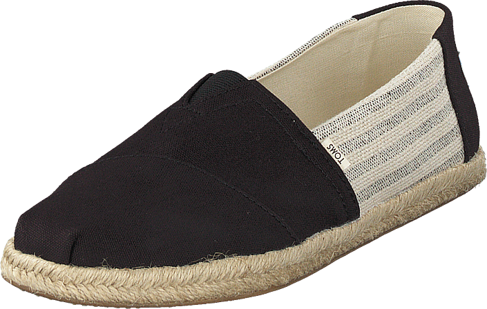 Toms - Black Ivy League On Rope Black